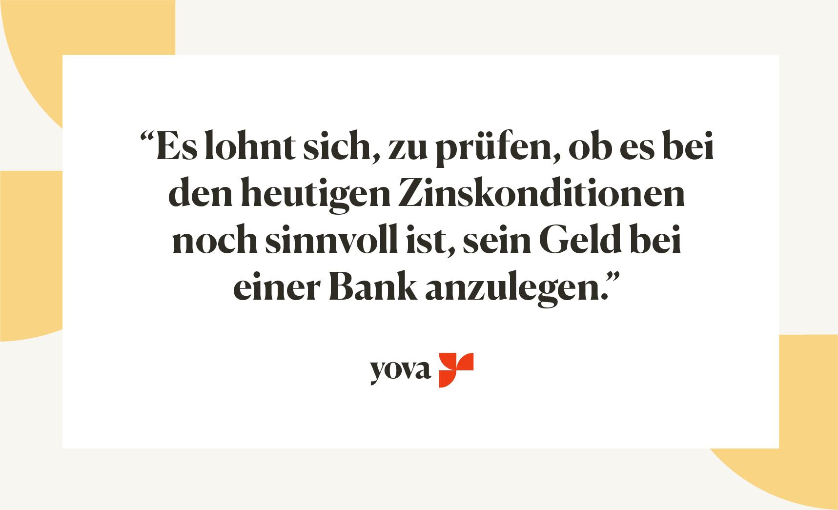 geld auf der bank lassen