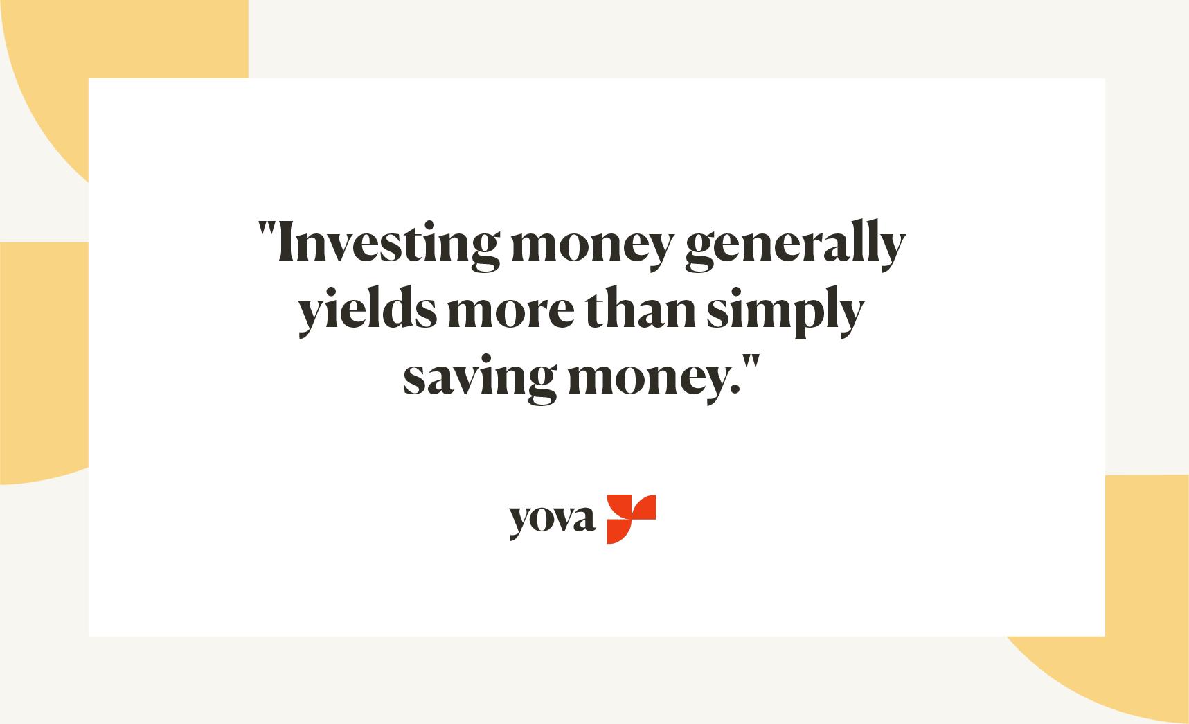 Investing yields more than saving