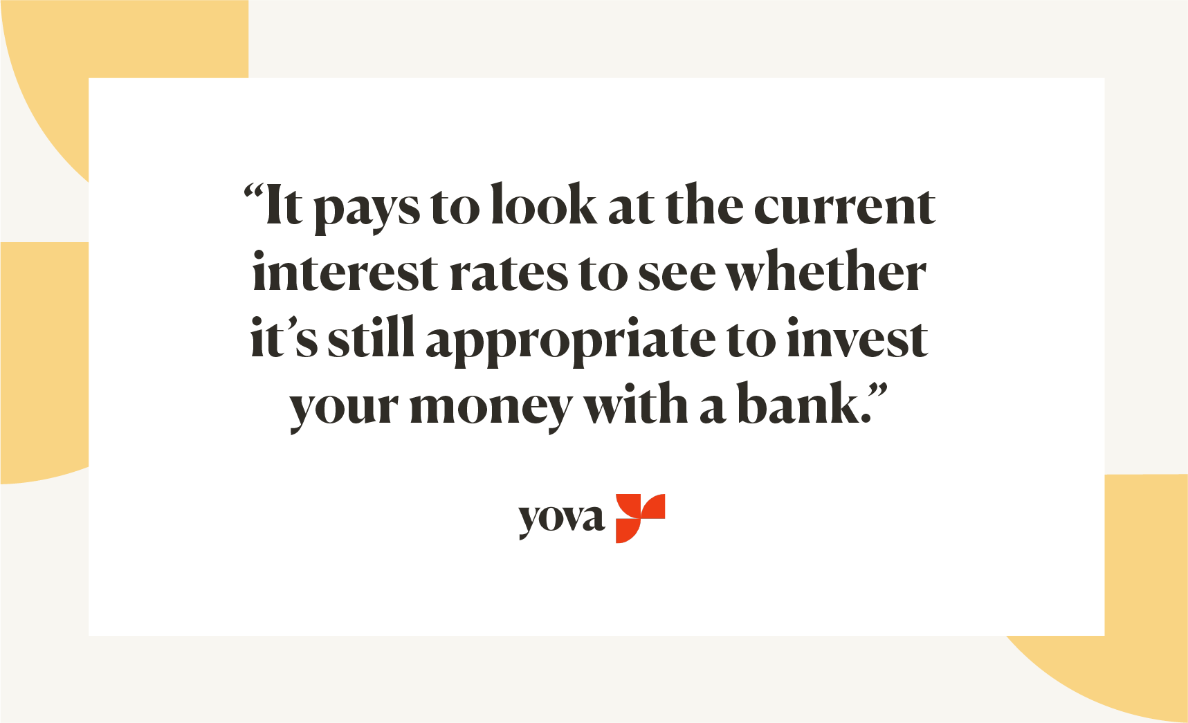 save money at bank interest rates