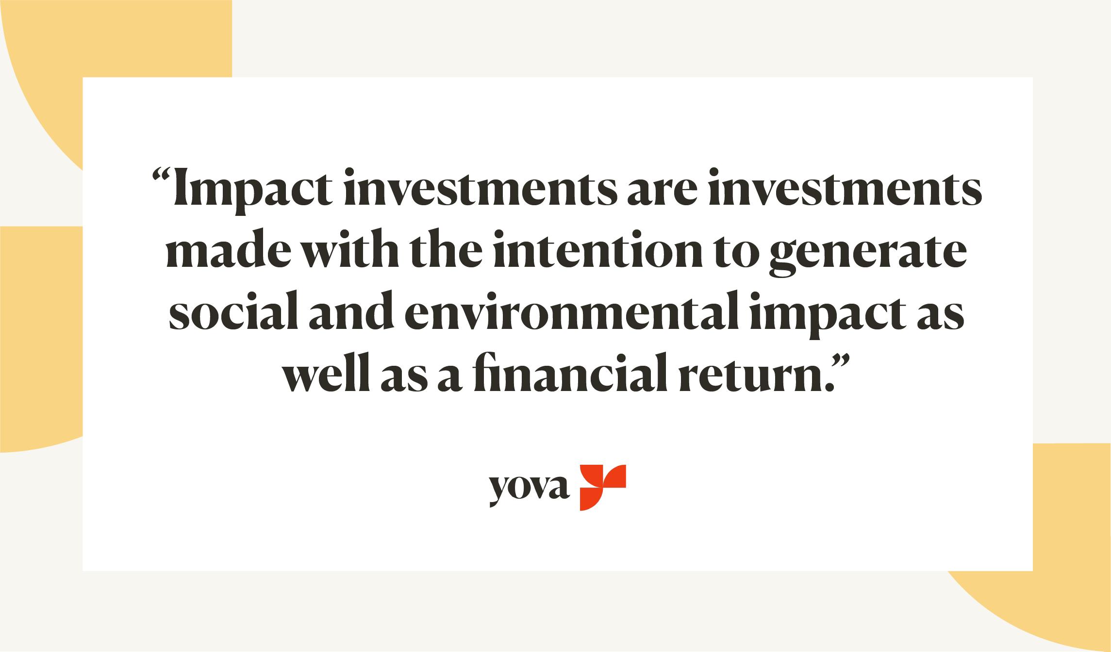 impact investing definition Inyova