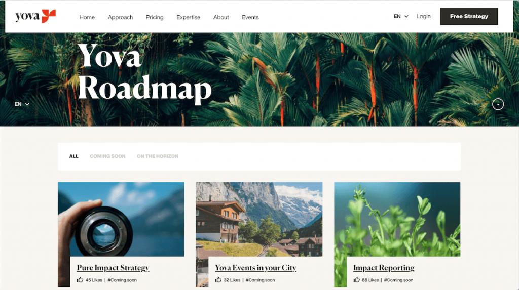 Yova impact investing reviews roadmap