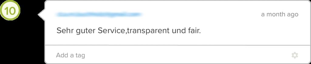 Yova Erfahrung Schweiz Kundenservice