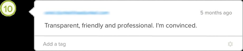 Yova review feedback transparency