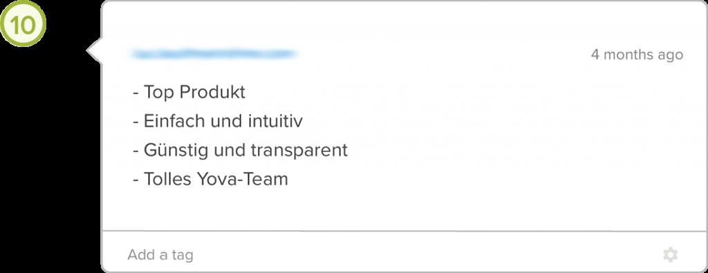 Yova Erfahrungen feedback Transparenz