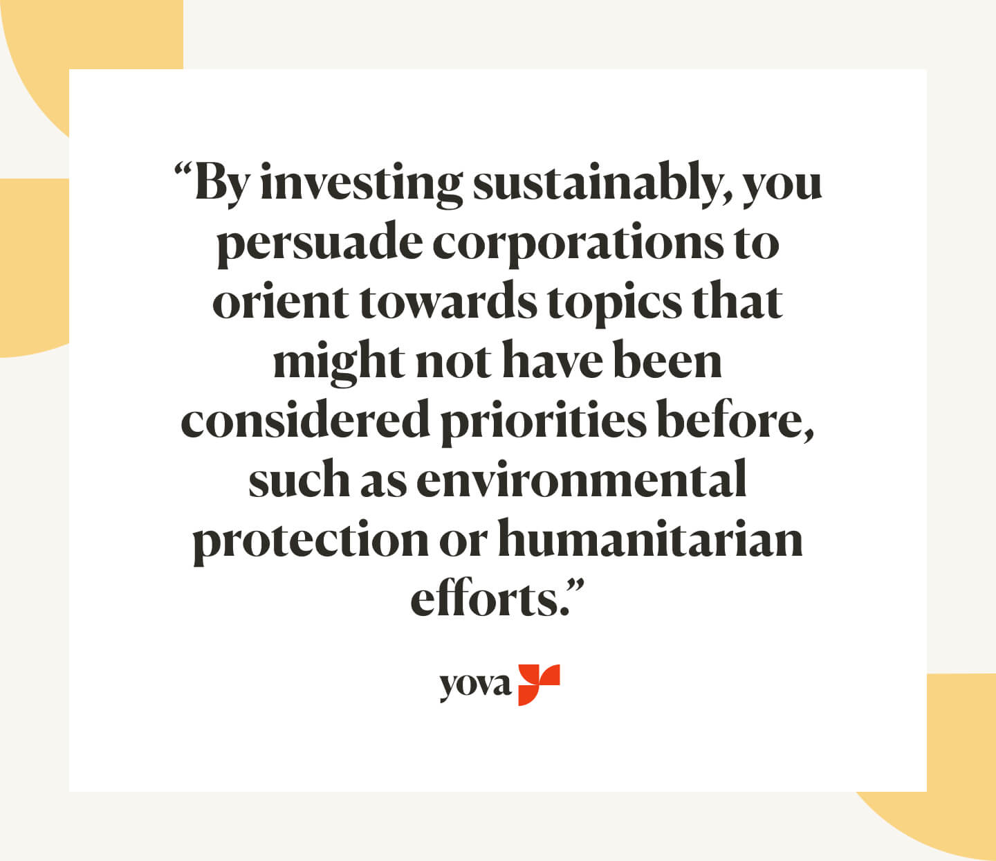 ethically sustainable investing Germany Yova