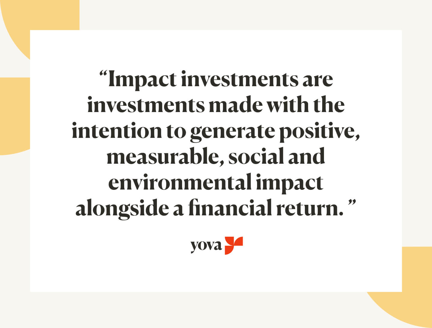 Impact Investments Definition