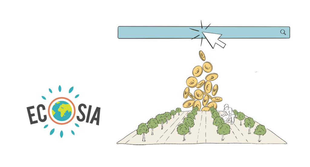 ecosia bäume pflanzen, ecosia deutsche startups